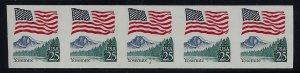 2280b - Scarce Imperf Error PNC5 #2 Large Block Tag Yosemite Mint NH Cat $745