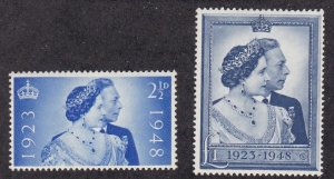 Great Britain # 267-268, King George 25th Wedding Anniversary, LH, 1/3 Cat.