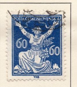 Czechoslovakia 1920-21 Early Issue Fine Used 60h. 142500