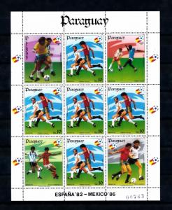 [60846] Paraguay 1984 World Cup Soccer Football Mexico MNH