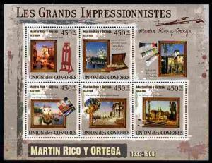 Comoro Islands 2009 Impressionists - Martin Rico Y Ortega...