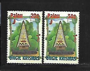 PALAU, 634-635, MNH, CHRISTMAS ON THE ISLAND