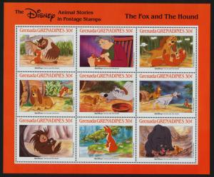 Grenada Grenadines 987 MNH Disney, The Fox & Hound, Animals, Birds