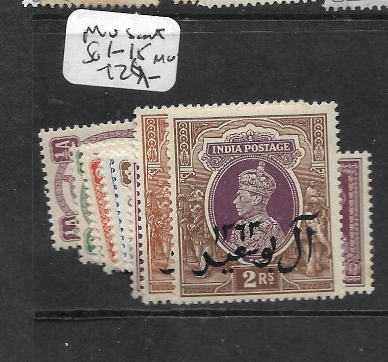 MUSCAT  (PP0802B) ON INDIA     KGVI  SG 1-15  MOG