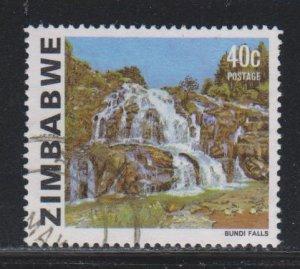 Zimbabwe, 40c Bundi Falls (SC# 426A) Used