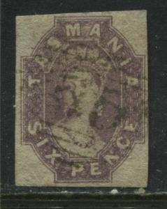 Tasmania QV 1867 6d red violet used