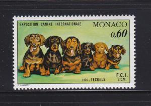 Monaco 1017 Set MNH Dogs, Dachshunds