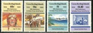 COCOS IS. Sc#203-206 1989 Aerial Survey Anniversary Complete Set OG Mint NH