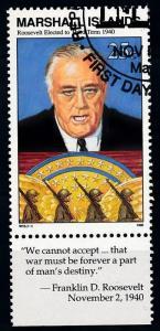 [68390] Marshall Islands 1990 World War II President Roosevelt  Used CTO