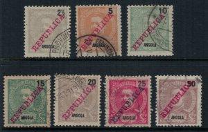 Angola #88-94 CV $5.55