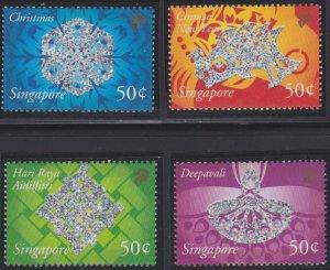 Singapore 1022-1025 MNH (2002)