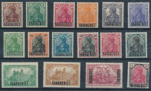[665] Sarre 1920 good Lot very fine MH Stamps Value $75