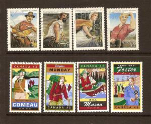 CANADIAN 2 SETS ON CANADIAN FOLKLORE USED STAMPS  LOT#69