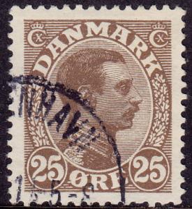 Denmark - 1913 - Scott #106 - used - King Christian X