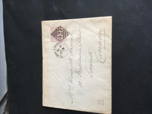 Ireland to Canada 1879 Forerunner Using GB#67 2and Half Pence ClaretForPostage