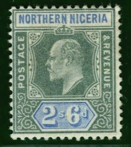 NORTHERN NIGERIA KEVII Stamp SG.27 2s/6d High Value Mint MM 1905 Cat £60 YBLUE67