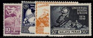 MALAYSIA - Perak GVI SG124-127, ANNIVERSARY OF UPU set, M MINT.