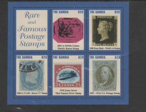 GAMBIA #2871  2004 RARE & FAMOUS POSTAGE STAMPS   MINT  VF NH  O.G  M/S