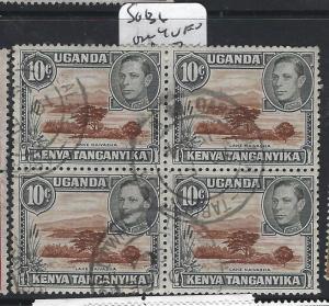 KENYA, UGANDA, AND TANGANYIKA (P0405B) KGVI 10C SG 136 BL OF 4    VFU