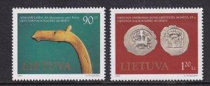 Lithuania  #579-580  MNH  1997  museum art