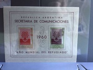 Argentina World Refugee Year 1960 mint never hinged stamps sheet  R27004