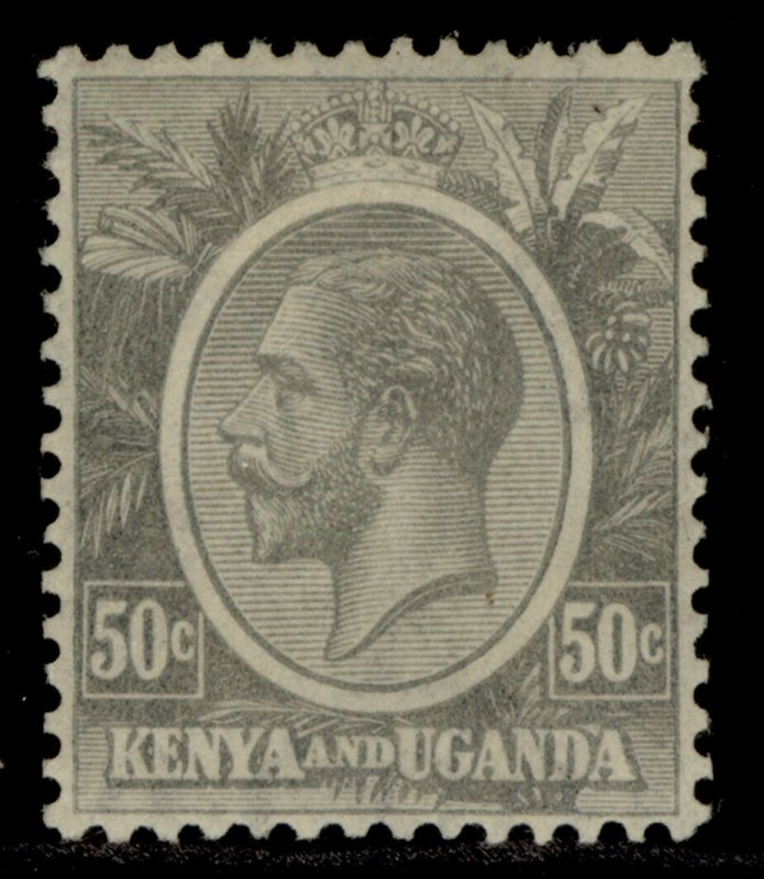 KENYA and UGANDA GV SG85, 50c grey, M MINT.