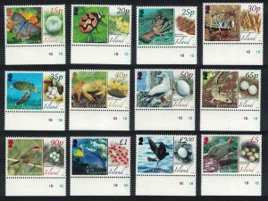 Ascension Fauna and their Eggs Birds Butterflies 12v Margins SG#987-998