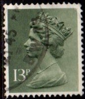 Great Britain - #MH82 Machin Queen Elizabeth II - Used