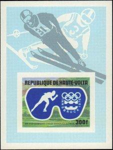 Burkina Faso #384-386, C225-C227, Complete Set(5) + Souvenir Sheet, Imperfora...