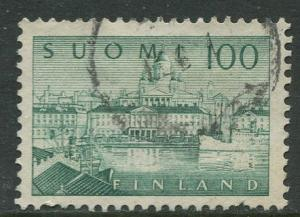 Finland - Scott 257 - South Harbour Helsinki -1958- Used - Single 100m Stamp