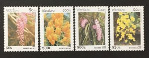 Laos 1996 #1292-5, Flower's, MNH.