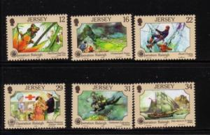 Jersey Sc 461-66 1988 Operation Raleigh stamp set mint NH