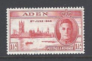 Aden Sc # 28 mint hinged (DT)