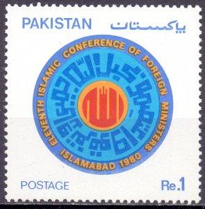 Pakistan. 1980. 520. Politics. MNH.