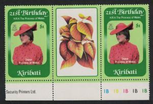 Kiribati 21st Birthday of Princess of Wales 1v Gutter Pair SG#185