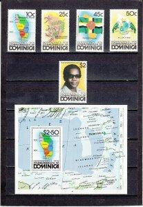 DOMINICA *602-607 MNH 2019 SCOTT CATALOGUE VALUE $7.55