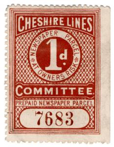 (I.B) Cheshire Lines Committee Railway : Newspaper Parcel 1d