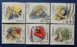 Iceland Sports Stamps Scott # 708-711B Used (I697)