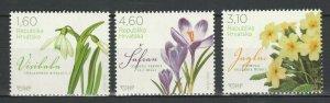 Croatia 2012 Flowers 3 MNH Stamps