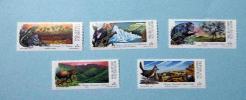 Argentina - 1647-51, MNH Set. National Park. SCV - $3.50
