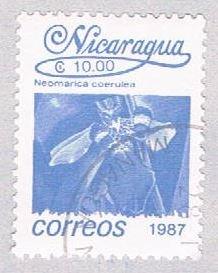 Nicaragua Flower blue 10 - pickastamp (AP108710)