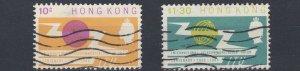 HONG KONG  1965  S G 214 - 215  ITU SET USED