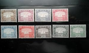 Aden #1-9 mint hinged short set e192.3666