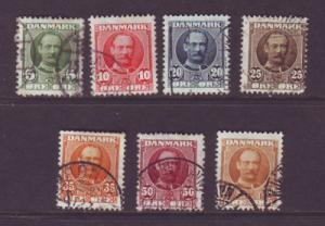 Denmark Sc 72-8 1907 Frederik VIII  stamps used