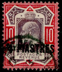BRITISH LEVANT SG10, 4pi on 10d dull purple & carmine, FINE USED.