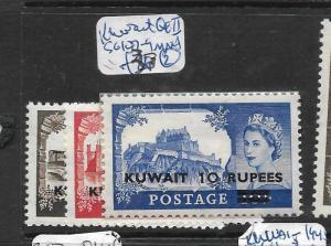 KUWAIT (P0604B) ON G.B. QEII  HI VALUES SG 107-9  MNH