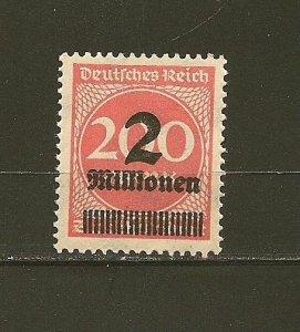 Germany 269 Numeral Surcharge MNH
