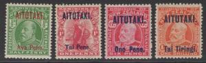 AITUTAKI SG9/12 1911-6 DEFINTIVE SET MTD MINT