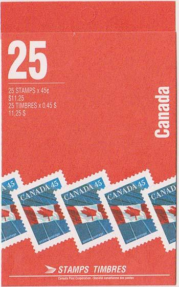 Canada USC #BK178Ab 1995 Pane of 25 45c in Complete Booklet VF-NH