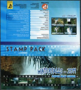 Papua New Guinea 2011. Waterfalls - 2011 (MNH OG. StampPack) Set of 4 stamps